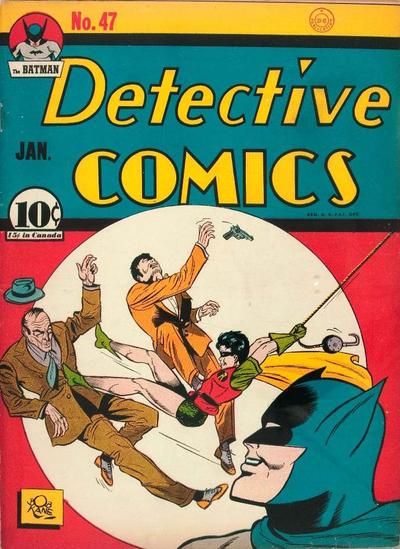 "Cover for Detective Comics (DC, 1937 series) #47 [""15 cents in Canada"" under price box]"