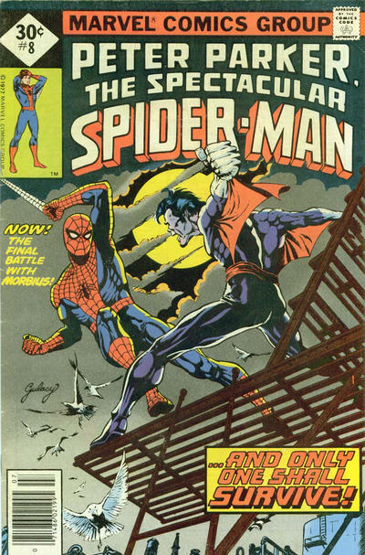 Cover for The Spectacular Spider-Man (Marvel, 1976 series) #8 [35 cent cover price variant]