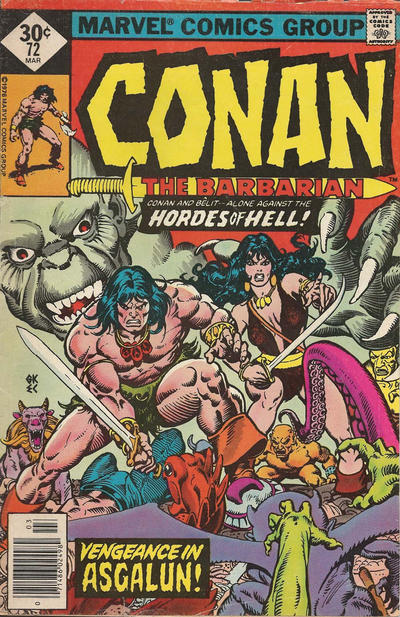 Cover for Conan the Barbarian (Marvel, 1970 series) #72 [Whitman Edition]