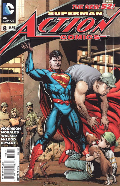 Cover for Action Comics (2011 series) #8 [1:200 Incentive Cover Edition]