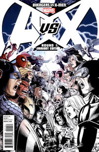 Cover for Avengers vs. X-Men (Marvel, 2012 series) #1