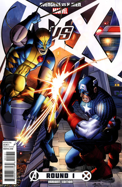 Cover for Avengers Vs. X-Men (2012 series) #1 [Retailer Bonus Variant Cover by Jim Cheung]
