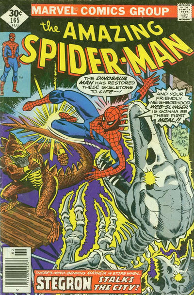 Cover for The Amazing Spider-Man (Marvel, 1963 series) #165 [Newsstand Edition]