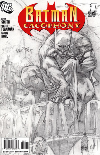 Cover for Batman Cacophony (DC, 2009 series) #1 [Adam Kubert Sketch Variant Cover]