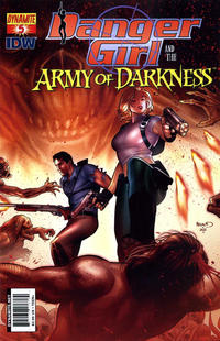 Cover Thumbnail for Danger Girl and the Army of Darkness (Dynamite Entertainment, 2011 series) #5 [Paul Renaud Cover]
