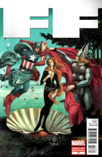 Cover Thumbnail for FF (Marvel, 2011 series) #17 [Avengers Art Appreciation Variant Cover by Julian Totino Tedesco]