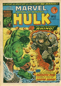 Cover Thumbnail for The Mighty World of Marvel (Marvel UK, 1972 series) #52
