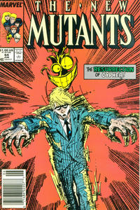 Cover for The New Mutants (Marvel, 1983 series) #64 [Direct Edition]