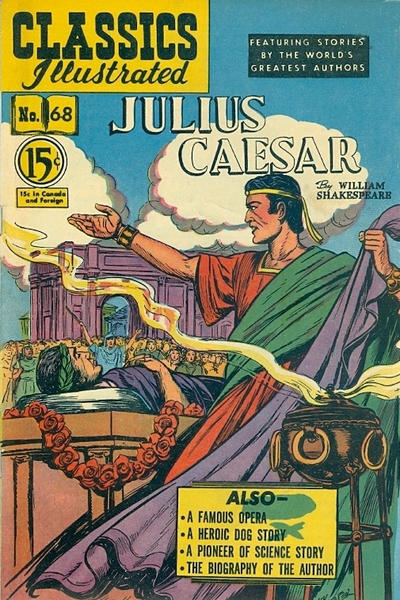Cover for Classics Illustrated (Gilberton, 1948 series) #68