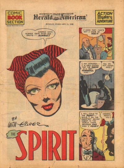 Cover for The Spirit (Register and Tribune Syndicate, 1940 series) #2/15/1942