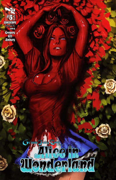 Cover for Grimm Fairy Tales Presents Alice in Wonderland (2012 series) #5 [Cover A]