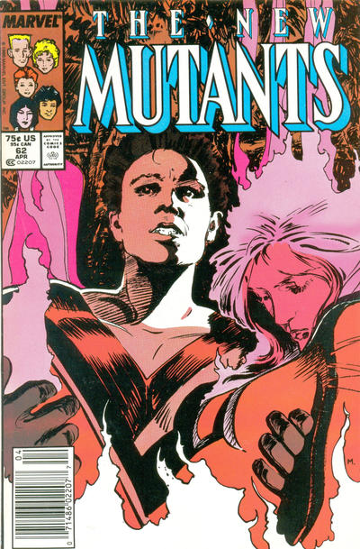 Cover for The New Mutants (Marvel, 1983 series) #62 [Newsstand Edition]