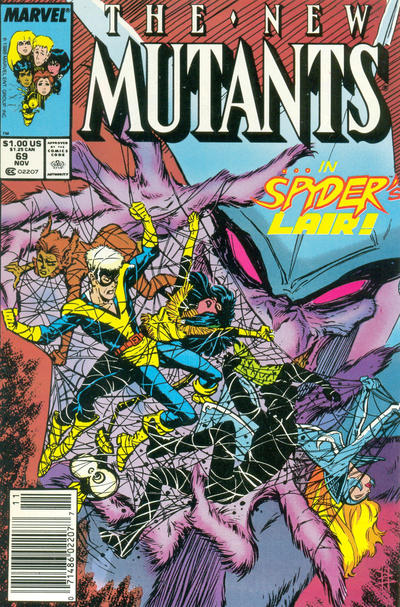 Cover for The New Mutants (Marvel, 1983 series) #69 [Newsstand Edition]