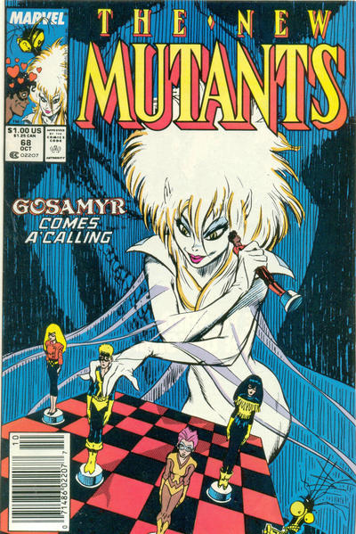 Cover for The New Mutants (Marvel, 1983 series) #68 [Direct Edition]