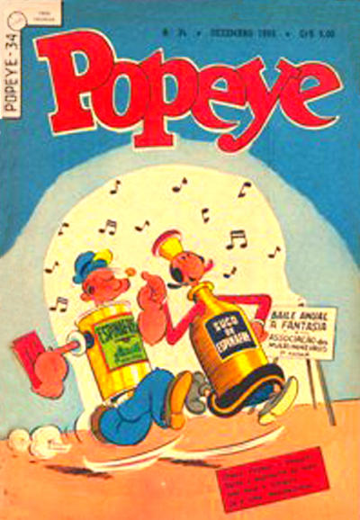 Cover for Popeye (Editora Brasil-América [EBAL], 1953 series) #34