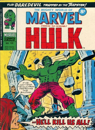 Cover for The Mighty World of Marvel (Marvel UK, 1972 series) #133