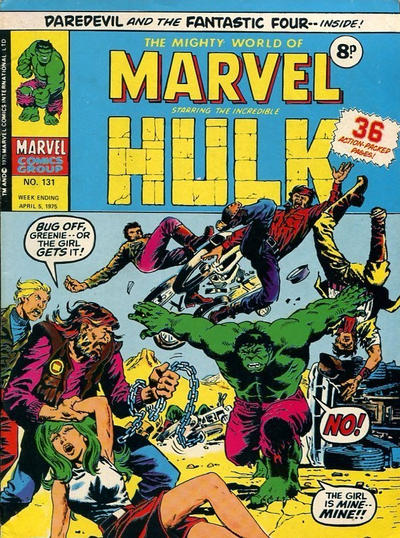 Cover for The Mighty World of Marvel (Marvel UK, 1972 series) #131