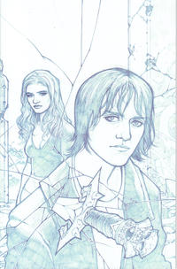 Cover Thumbnail for Angel (IDW, 2009 series) #21 [Gabriel Rodriguez Retailer Incentive Blueline Sketch Cover (1 in 25)]