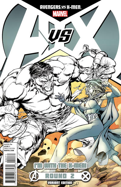 Cover for Avengers Vs. X-Men (2012 series) #2 [Variant Cover by Nick Bradshaw]