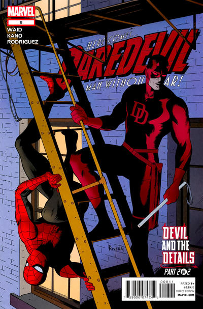 Cover for Daredevil (Marvel, 2011 series) #8 [Variant Cover by Lee Bermejo]
