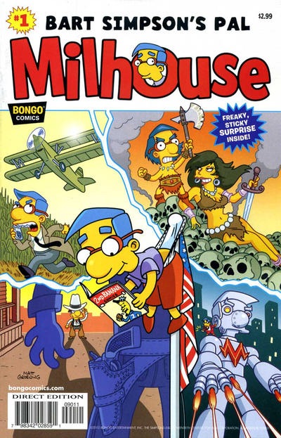 Cover for Simpsons One-Shot Wonders: Bart Simpson's Pal Milhouse (Bongo, 2012 series) #1 [Newsstand Edition]