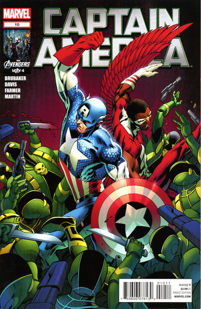 Cover for Captain America (Marvel, 2011 series) #10 [Avengers Art Appreciation Variant Cover]