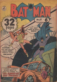 Cover Thumbnail for Batman (K. G. Murray, 1950 series) #87