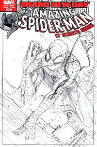 Cover Thumbnail for The Amazing Spider-Man (Marvel, 1999 series) #546 [Extremely Limited Sketch Variant Cover]