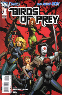 Cover Thumbnail for Birds of Prey (DC, 2011 series) #1 [2nd Printing - Red Background]