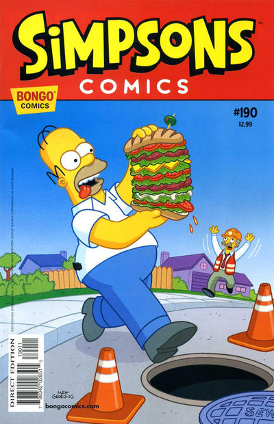 Cover for Simpsons Comics (Bongo, 1993 series) #190