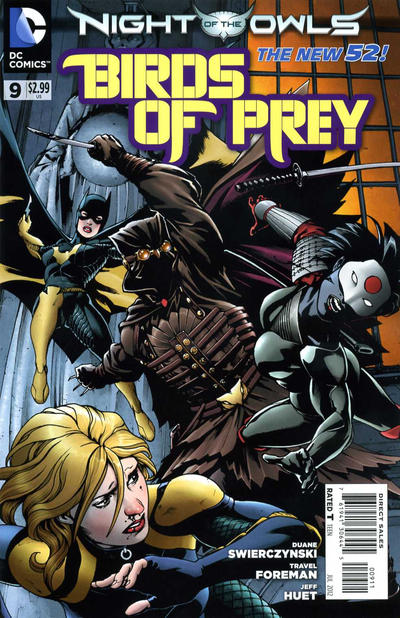 Cover for Birds of Prey (DC, 2011 series) #9