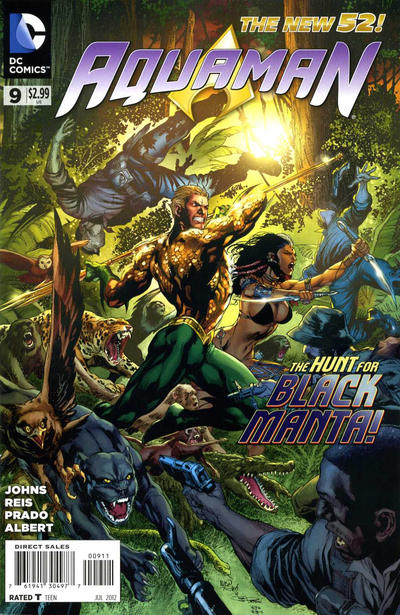 Cover for Aquaman (DC, 2011 series) #9