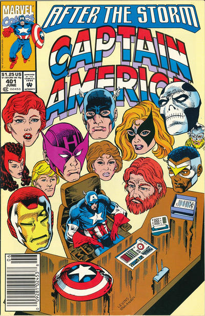 Cover for Captain America (Marvel, 1968 series) #401 [Newsstand Edition]