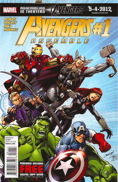 Cover for Avengers Assemble (2012 series) #1 [Blank]