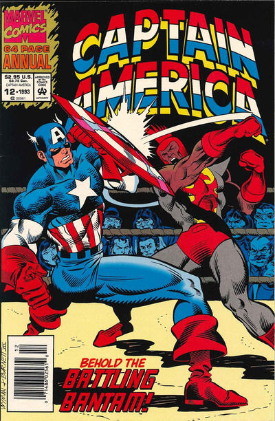 Cover for Captain America Annual (Marvel, 1971 series) #12 [Direct Edition]