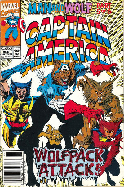 Cover for Captain America (Marvel, 1968 series) #406 [Newsstand Edition]