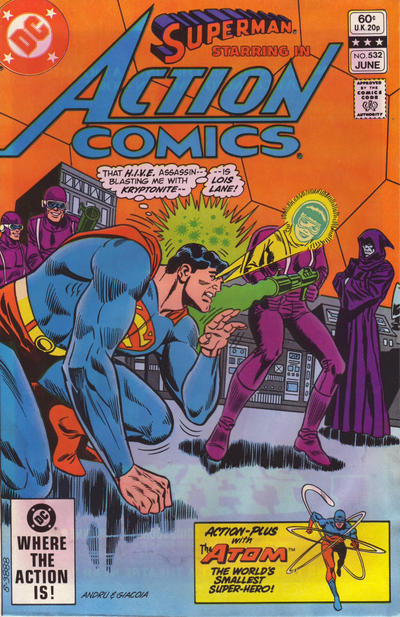 Cover for Action Comics (DC, 1938 series) #532 [Direct]