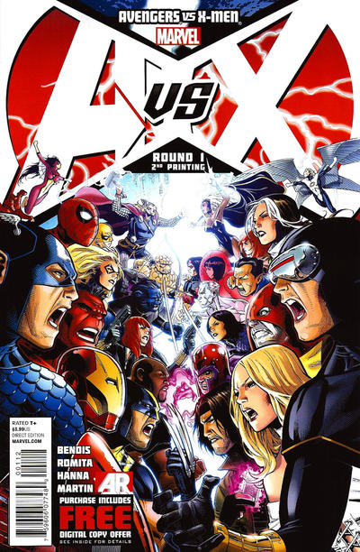 Cover for Avengers vs. X-Men (Marvel, 2012 series) #1 [2nd Printing Cover by Jim Cheung]