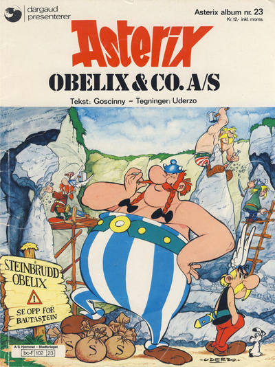 Cover for Asterix (Hjemmet, 1969 series) #23 - Obelix & Co. A/S [2. opplag]