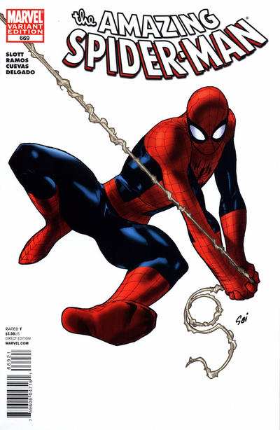 Cover for The Amazing Spider-Man (Marvel, 1999 series) #669 [You're Spider-Man: Ian Knight Variant Cover by Todd Nauck]
