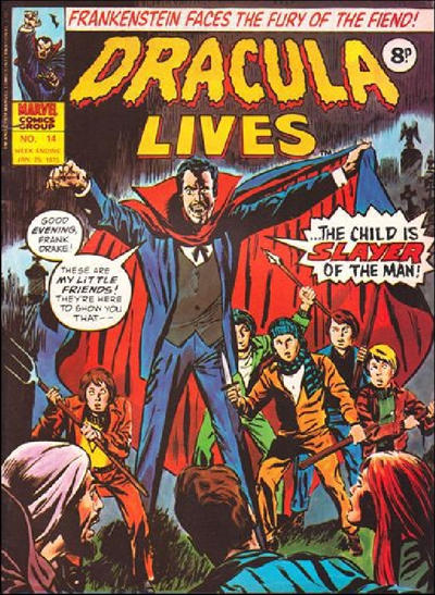 Cover for Dracula Lives (Marvel UK, 1974 series) #14