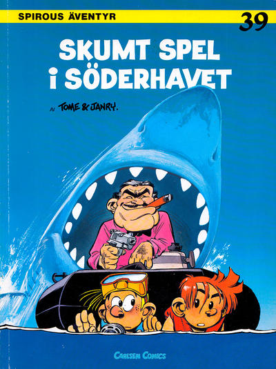 Cover for Spirous ventyr (1974 series) #39 - Skumt spel i Sderhavet