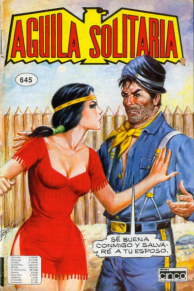 Cover for Aguila Solitaria (Editora Cinco, 1976 ? series) #645