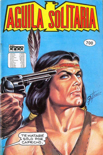 Cover for Aguila Solitaria (Editora Cinco, 1976 ? series) #700