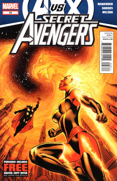 Cover for Secret Avengers (2010 series) #28 [Amazing Spider-Man In Motion Variant Cover]
