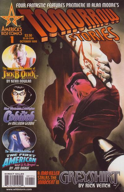 Cover for Tomorrow Stories (1999 series) #1 [Alex Ross Greyshirt Cover]