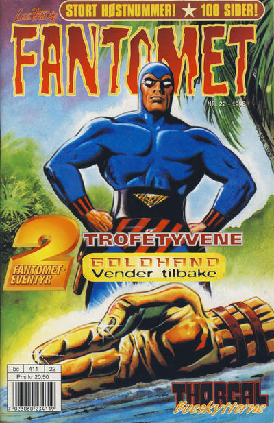 Cover for Fantomet (Egmont Serieforlaget, 1998 series) #22/1998