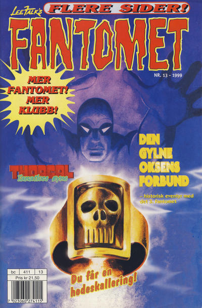 Cover for Fantomet (Egmont Serieforlaget, 1998 series) #13/1999