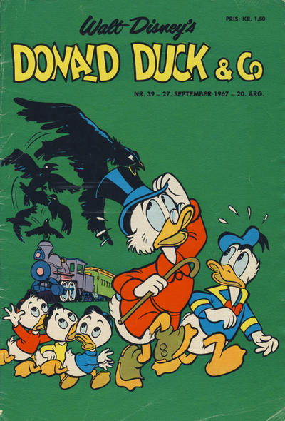 Cover for Donald Duck & Co (Hjemmet, 1948 series) #39/1967