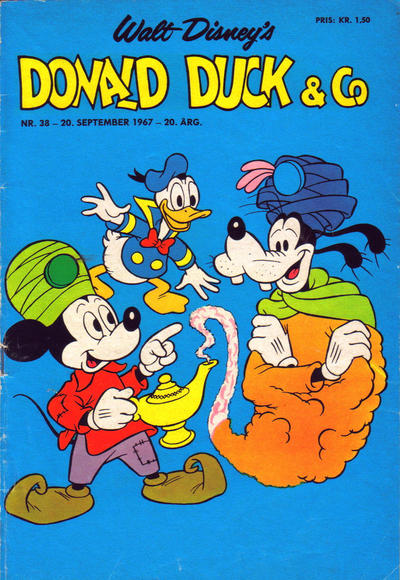 Cover for Donald Duck & Co (Hjemmet, 1948 series) #38/1967